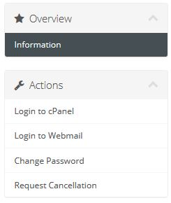 Sidebar for Quick cPanel & Webmail Access